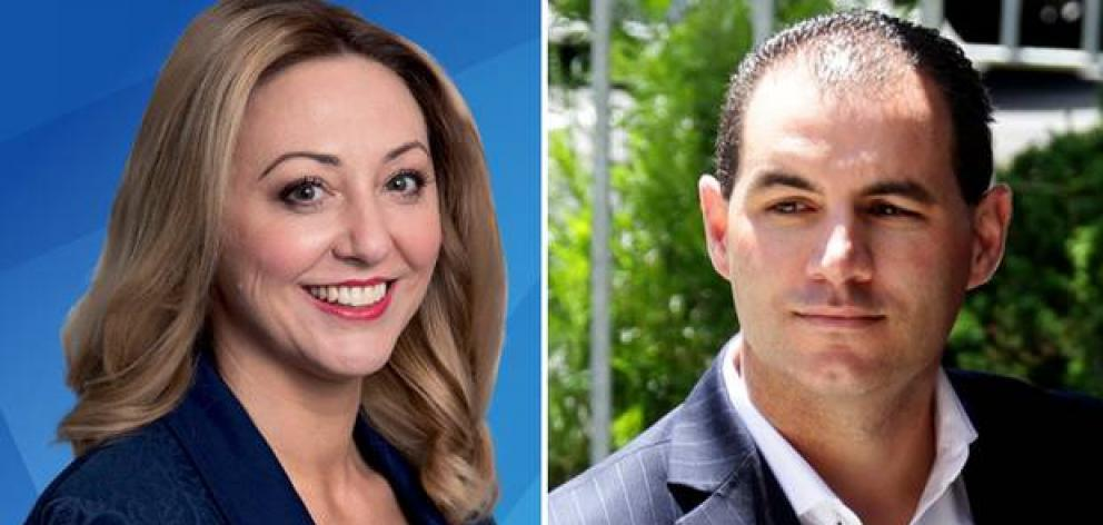 MP Sarah Dowie and former National MP Jami-Lee Ross. Photos: Supplied via NZ Herald