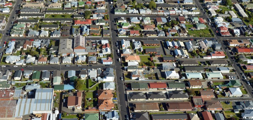 South Dunedin from above. PHOTO: ODT FILES