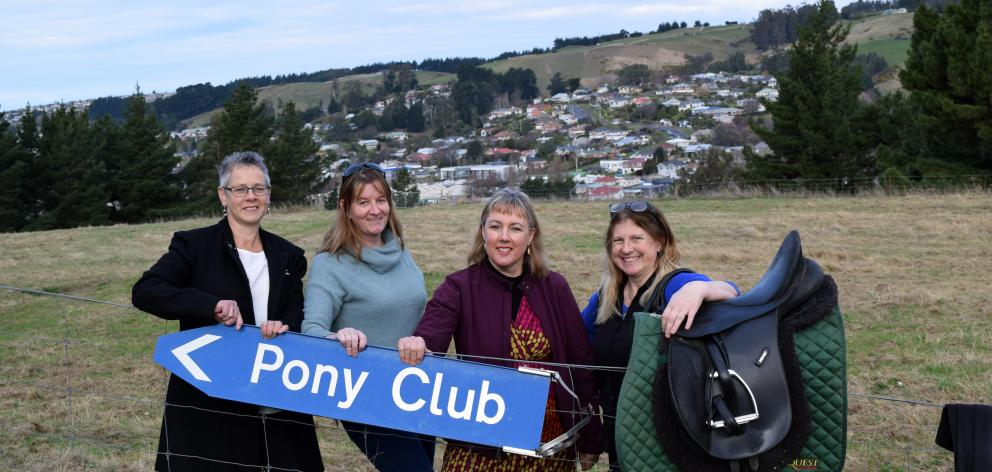 Saddleview Pony Club members celebrate their new grounds at Miller Park in Green Island (from left) secretary Sharleen Warren, treasurer Nicki Howie, president Louise Lawrence, and head coach Kathy Fuller. PHOTO: SHAWN MCAVINUE