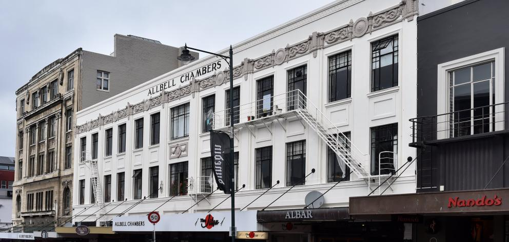 Developers have been granted consent for a proposed hotel in Allbell Chambers, in Stuart St. Photo: Peter McIntosh