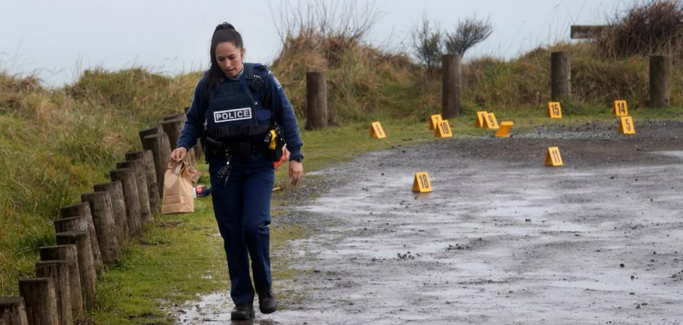Police have been searching the carpark of the Te Toto Gorge lookout on Whaanga Rd, south of...