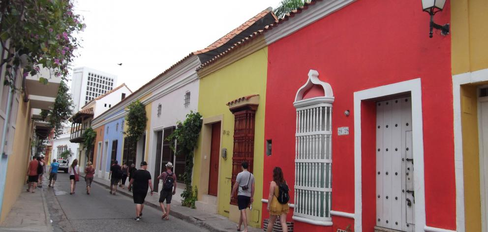 Vibrant homes in Getsemani, Cartagena. PHOTOS: ELEANOR HUGHES