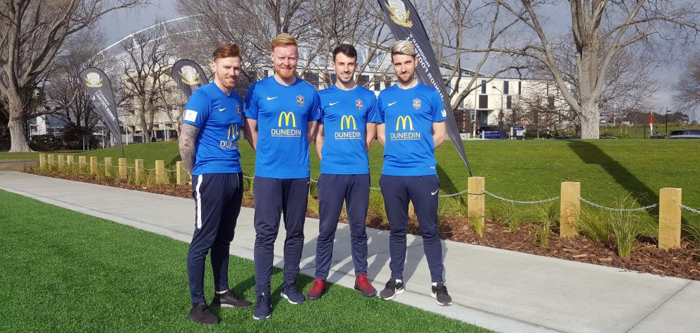 Southern United's Irish quartet of (from left) Danny Ledwith, Stephen Last, Conor O'Keeffe and...