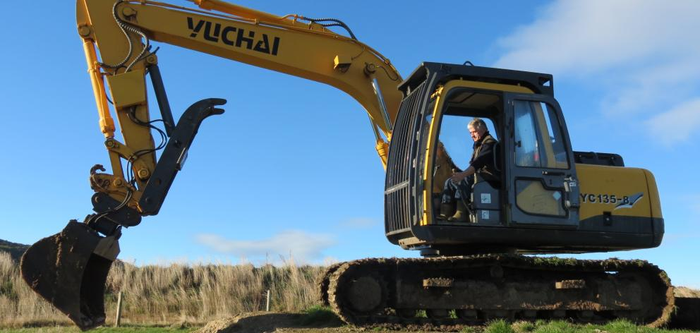 "Howie Gardner, of Puerua Valley, bought a digger to work on his farm, and found it ""addictive''."