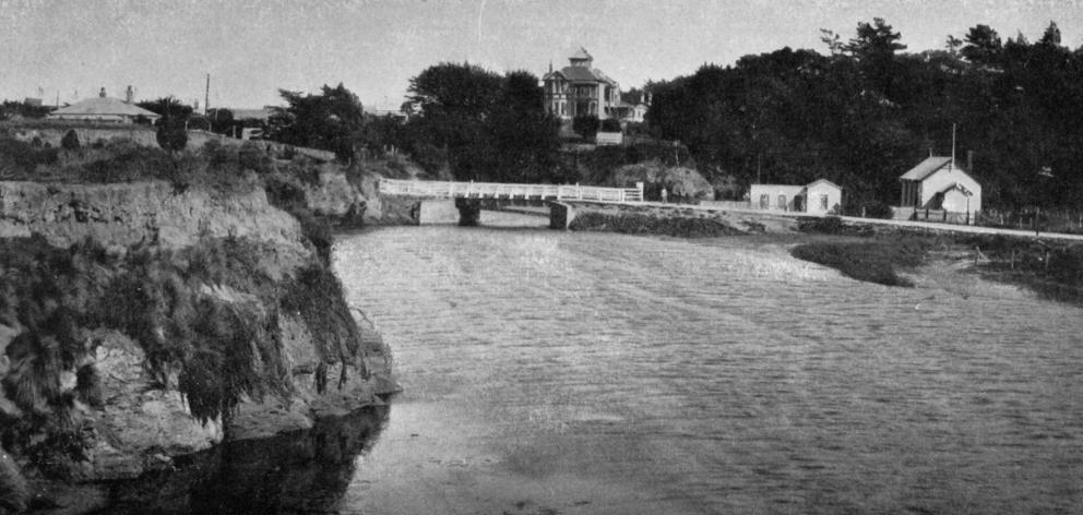 The head of the lagoon at Brighton, Otago. - Otago Witness, 5.9.1919.