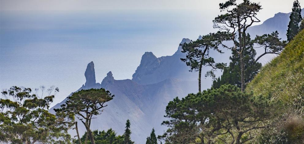 A view of St Helena's tropical landscape. PHOTO: GETTY IMAGES