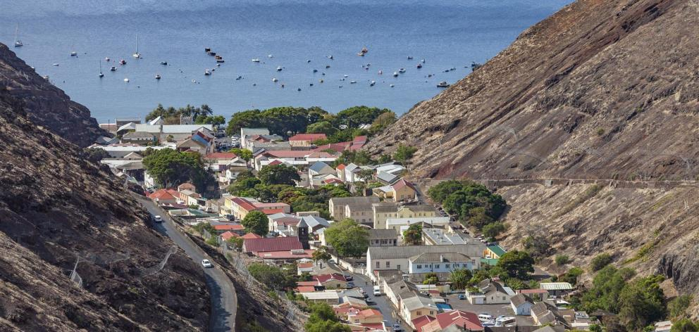 Jamestown, the capital of St Helena, is situated in a steep valley on the island's western side.