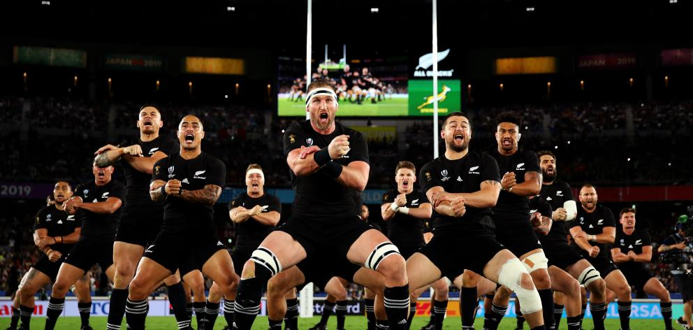 All Blacks captain Kieran Read led a revamped version of kappa o pango. Photo: Getty Images