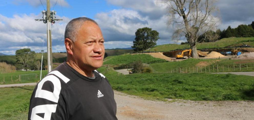 All of the work is completed under the eagle eye of their agricultural tutor Richard Te Whare, who said the boys benefited from getting outside. Photo: RNZ