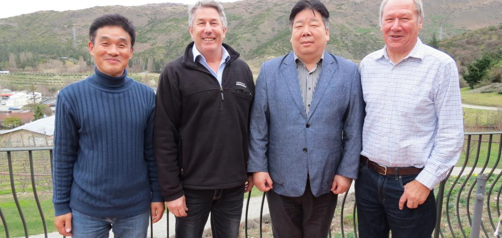 New Zealand Premium Goat Ltd has won a contract to supply goat meat to a new New Zealand-themed restaurant as part of the Shilla Hotel business in Seoul. From left are Korean exporter importer representative Paul Ryu, of Christchurch, New Zealand Premium