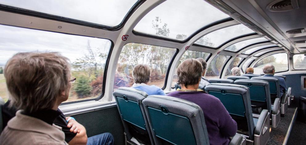Taking in the view from a Skyline Dome car.