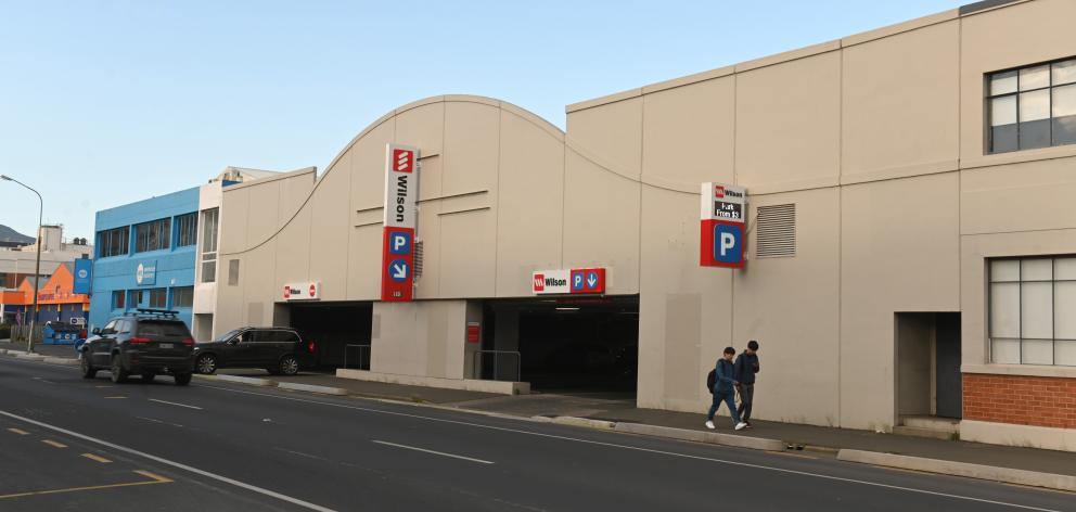 The Wilson Parking building in Cumberland St, Dunedin. Photo: Linda Robertson