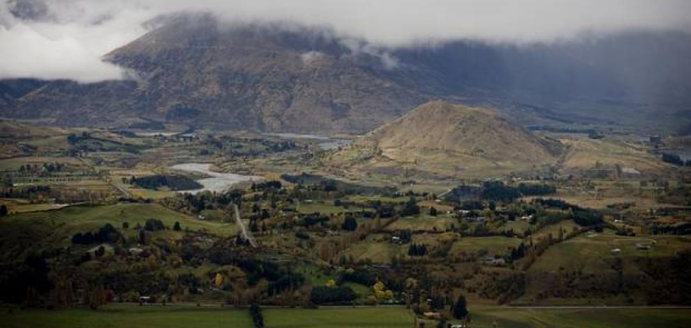 Looking out over the Wakatipu Basin from Skippers Canyon near Queenstown. Photo: ODT FILES