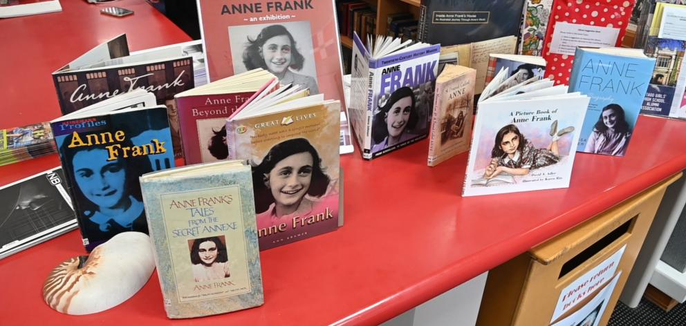 The Anne Frank exhibition is on display at Otago Girls' High School.  Photo: The South Today