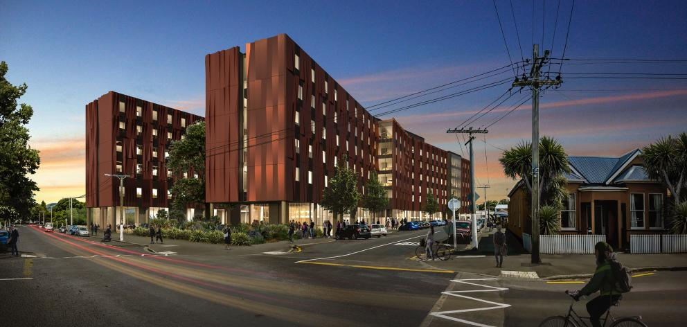 An artist's impression of the new hall of residence which will replace Te Rangi Hiroa. Photo: Supplied
