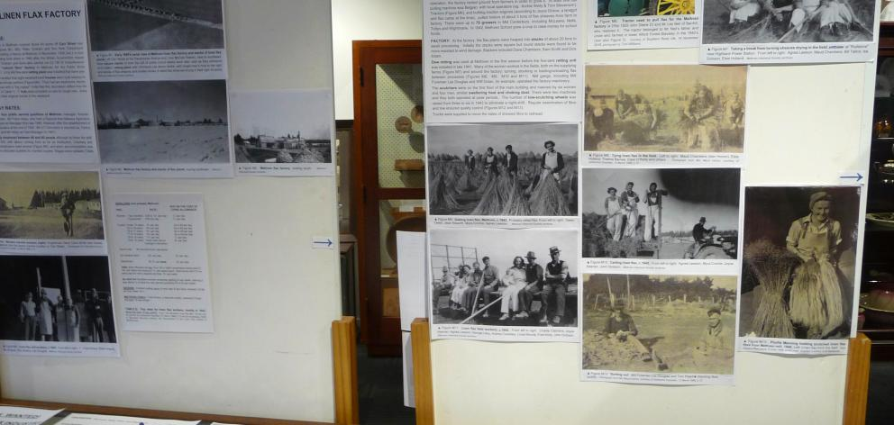 Part of the Methven linen flax exhibition at Methven Museum.