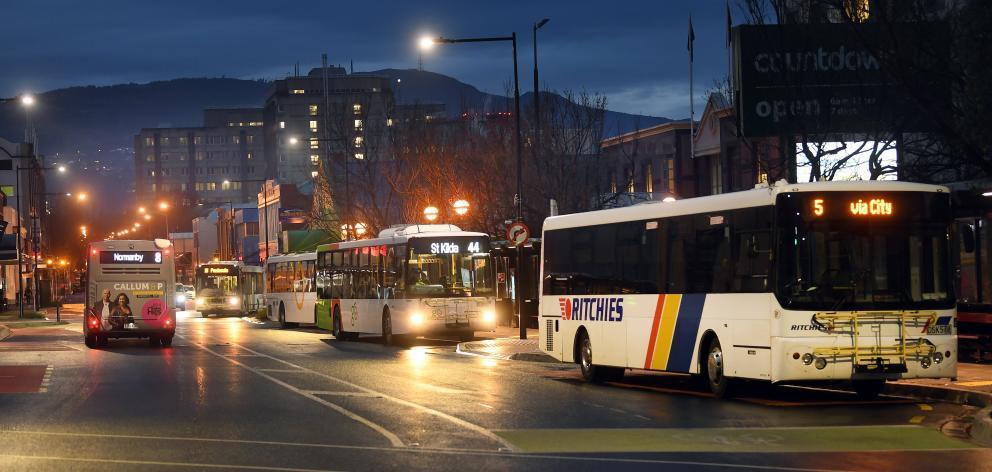The Dunedin bus hub. Photo: Stephen Jaquiery