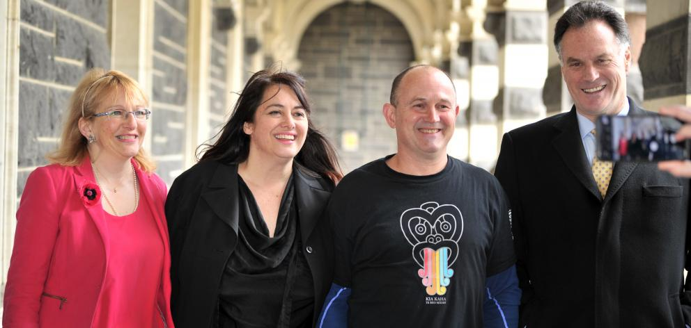 Elected to the Dunedin City Council for the first time are (from left) Sophie Barker, Carmen...
