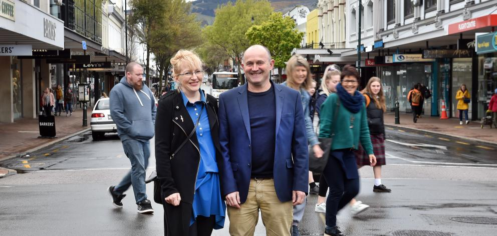 Steve Walker and Sophie Barker, who will today be sworn in as co-deputies of the Dunedin City...