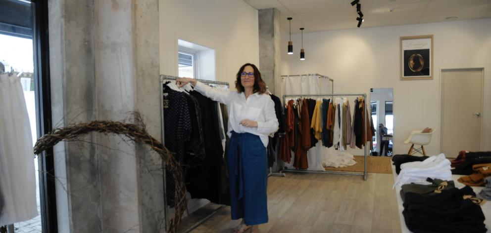 Eighty-five percent of the clothes that Swannanoa's Juliet Henry designs for her fashion boutique, Lordship Linens, carry a ''Made in New Zealand'' label. Photo: Shelley Topp