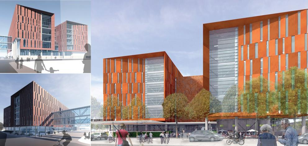 Concept designs of the Ambulatory Services Centre for outpatient clinics and day surgery. Images...