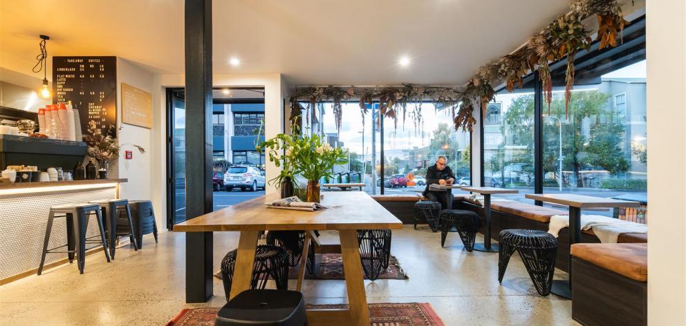 The cafe interior.