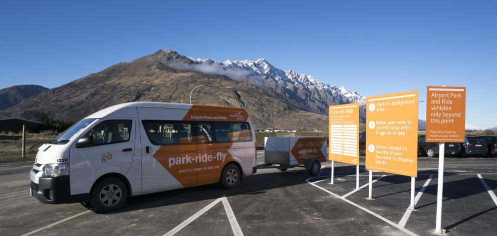 Queenstown Airport is introducing a new van for its park and ride facility, one of several...