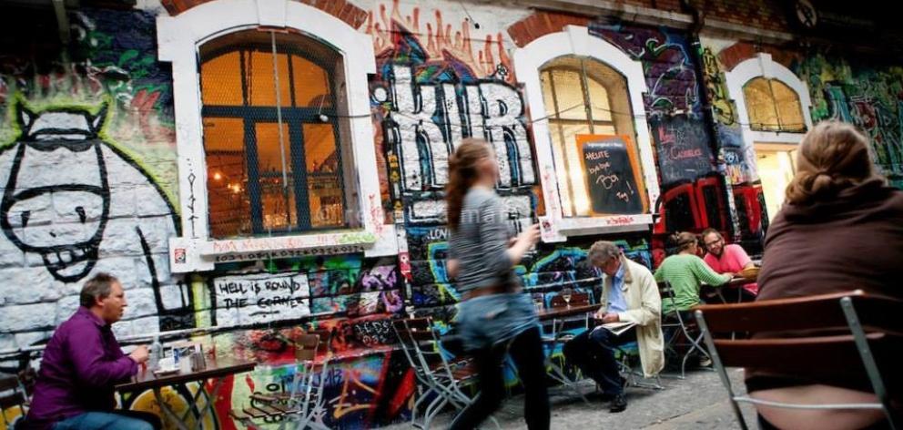 Bern's graffiti-covered Reitschule. PHOTO: WWW.BERN.COM