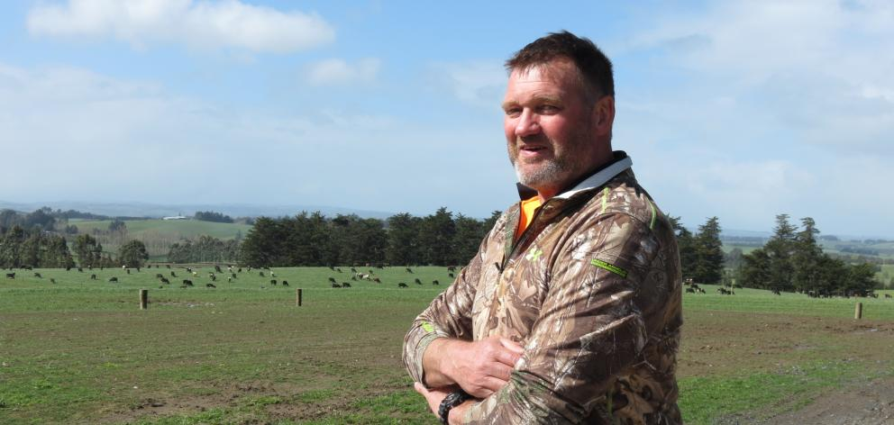 Dairy farmer Peter Dobbie, of Clinton, says farmers are getting increasingly worried about the implications for farming of the proposed new freshwater rules and regulations. Photo: Yvonne O'Hara