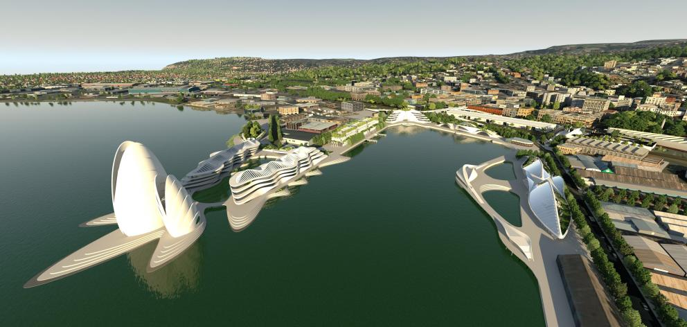 Concept plans for the northern side of Steamer Basin. Photo: Peter McIntosh