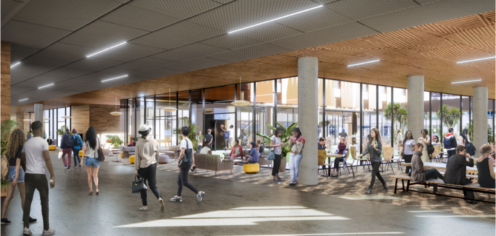 A concept image of the inside of the new 450-bed Te Rangi Hiroa residential college. Photo:...