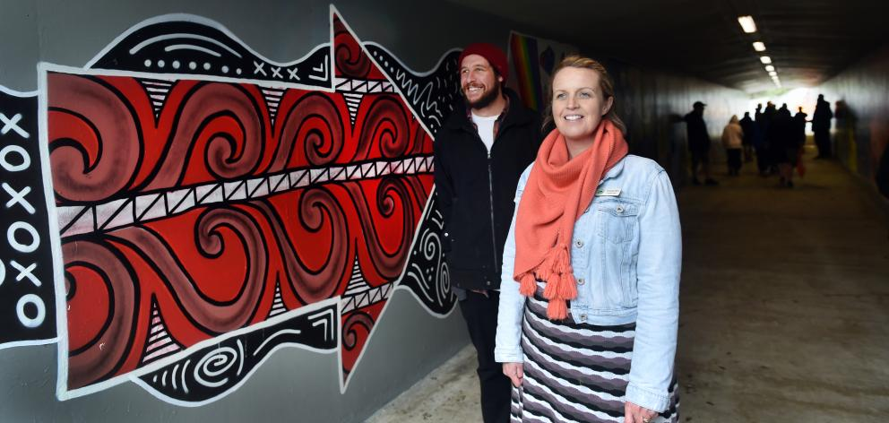 Jonathan Waters (left) and Amanda Reid are proud of the efforts of the Green Island community in...