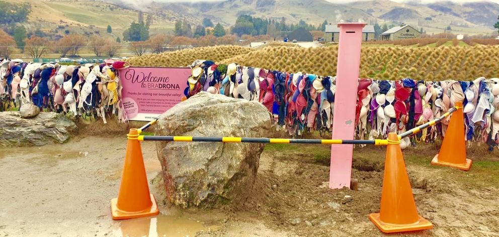 This new, bigger and ''more secure'' donation box was set in concrete at the Cardrona Valley Bra...