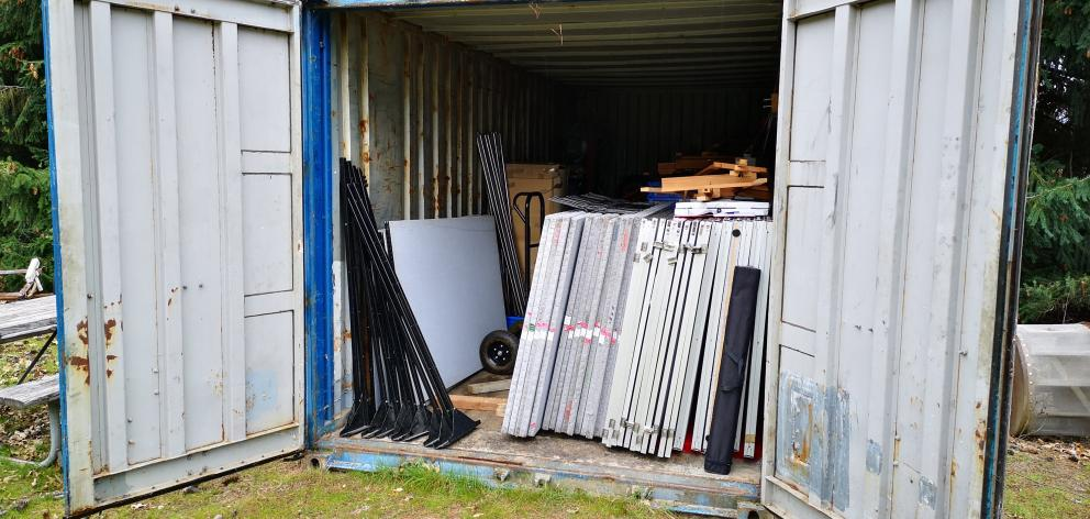The Wanaka Arts (Society) has had to use a shipping container on a private property to store its...