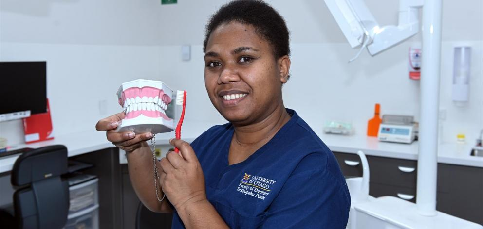 Papua New Guinea-born student Yvonne Golpak is in the second year of her doctorate in clinical dentistry at the University of Otago. Photo: Linda Robertson