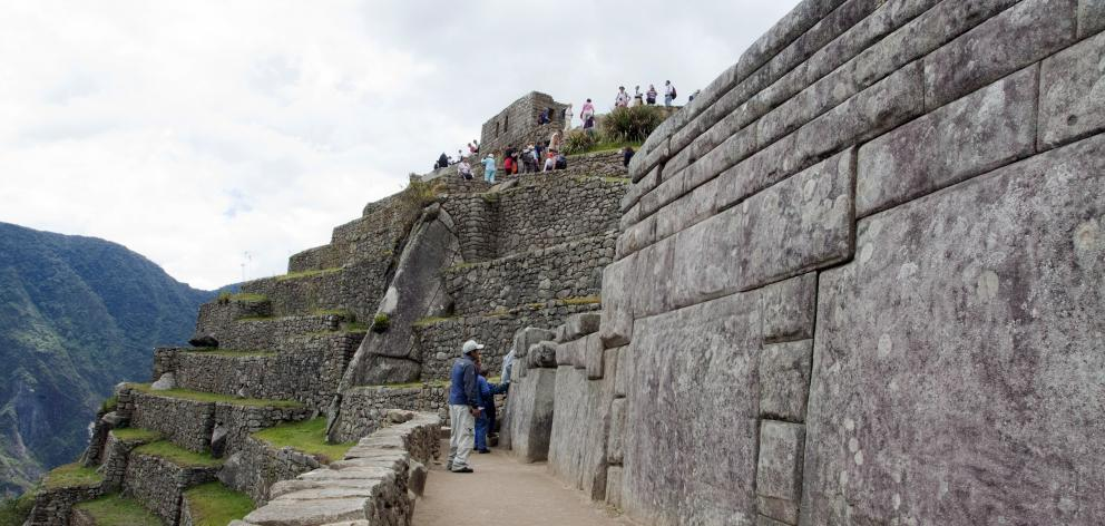 Evidence of the astonishing skill of the Inca stonemasons is visible everywhere at Machu Picchu.