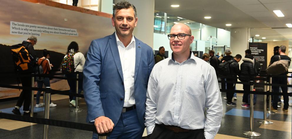 Dunedin Airport chief executive officer Richard Roberts (left) and chairman Tony Allison. PHOTO:...