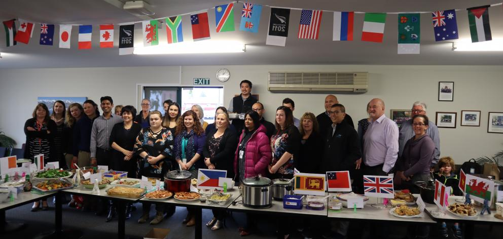 Staff ready for the big lunch.