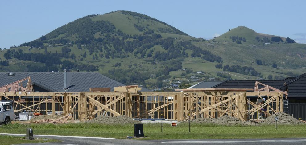A new home being built in Mosgiel. Photo: Gerard O'Brien
