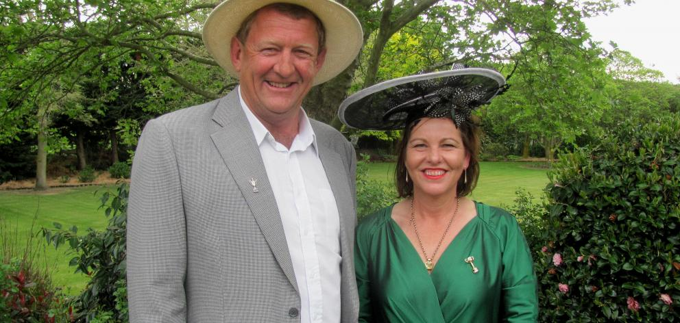 Greenstreet dairy farmers Norm and Lee-Anne Stewart replaced farm gear and overalls for a touch of glamour, rekindling a community event as a way to catch up with their rural neighbours. Photos: Toni Williams