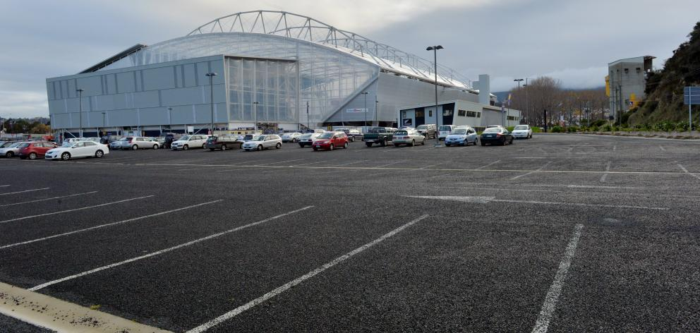 The car park at Forsyth Barr Stadium. PHOTO: GERARD O'BRIEN