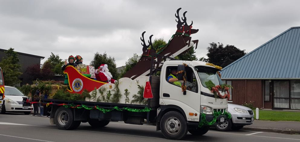 The man of the moment makes his appearance during last year's Oxford and District Lions Christmas Parade. Photo: File