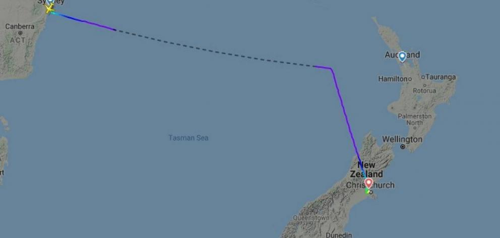 The Sydney-Auckland flight was diverted to Christchurch, with passengers told they'll be stuck...