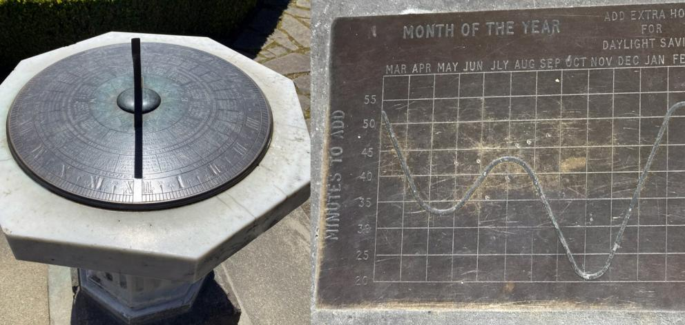 Sundial in the Botanic Gardens.