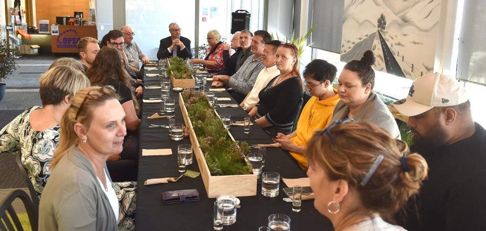 Long lunch at Otago Polytechnic on Thursday at midday. Photos: Gregor Richardson