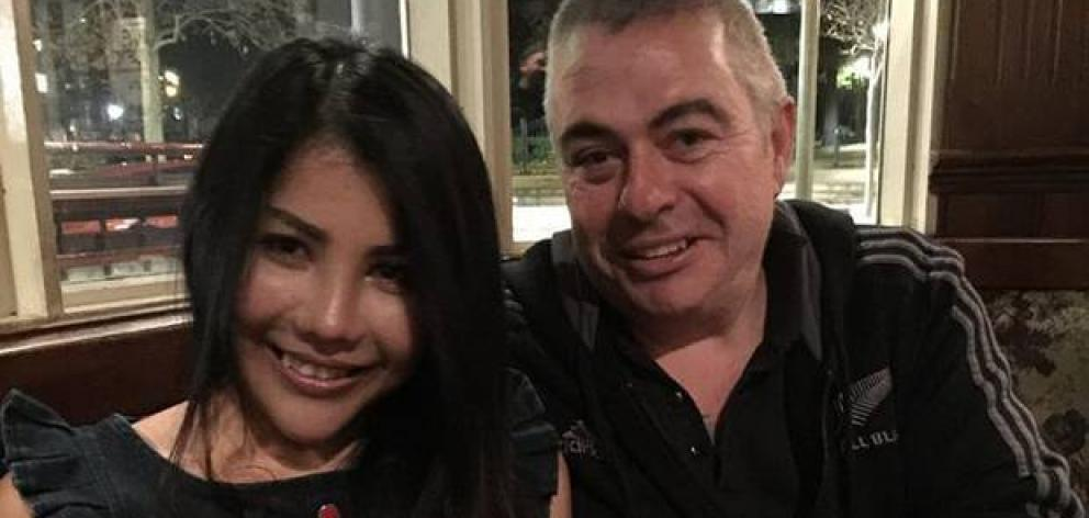 "Her husband ""really loved"" the All Blacks, Phim Kwan said of Kiwi Michael ""Murf"" Murphy, who died in a Sydney construction site accident yesterday. Photo: Supplied via NZ Herald"