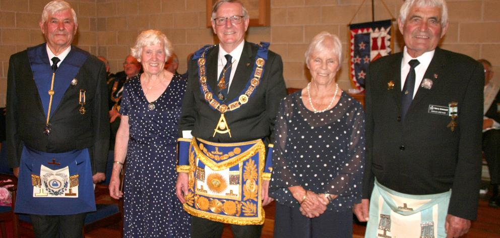 Celebrating the Brenssell brothers' 50-year involvement in Freemasons are (from left) Very...