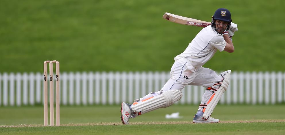 Michael Rippon watches his attempted drive caught by Northern Districts wicketkeeper BJ Watling...