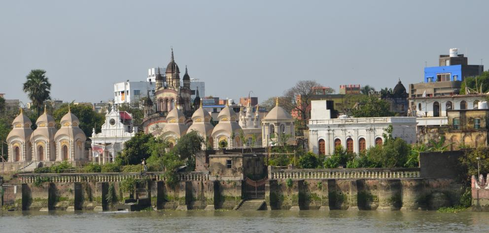 The Ganges riverbank is dominated by temples. PHOTOS: SANDIP HOR