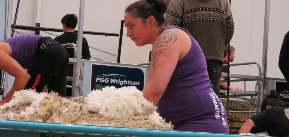 Pagan Karauria, of Alexandra, pictured at the New Zealand Merino Championships in Alexandra in October, won the national finewool, Spring Shears longwool and Corriedale championships, at the New Zealand Agricultural Show, in Christchurch, last Thursday. P